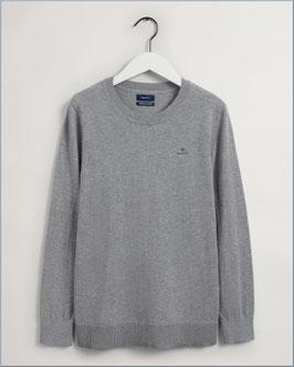 GANT Cotton Cashmere C - Neck  Grey Melange