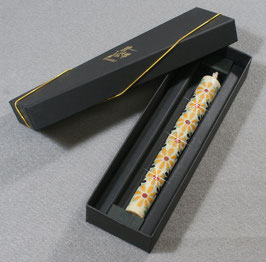 クリスタル絵蝋燭 テキスタイルflowerシリーズ