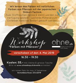 """Anmeldung ZeroWaste Workshop """"Färben mit Pflanzen"""""""