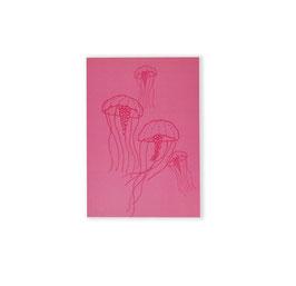 Libreta rosa medusas