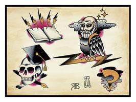 WildOne Tattoo- Flashsheet Philosophy