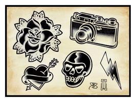 WildOne Tattoo- Flashsheet Photography
