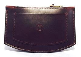 Slim Wallet mit Zipper (dark brown)
