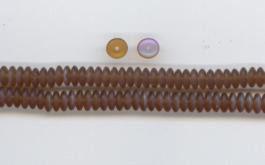 Na20 Scheibchen Braun matt, einseitig irisierend bedampft  6mm