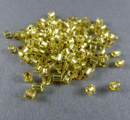 Gr57 Gelbgrün Silbereinzug; 2mm