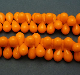 Tr05 Tropfenperlen orange opak