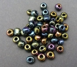 L01 Lila metallic Nuggets; ca.4,5mm