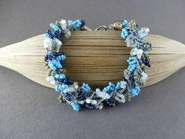 HA02 Häkelarmband-Set Blau