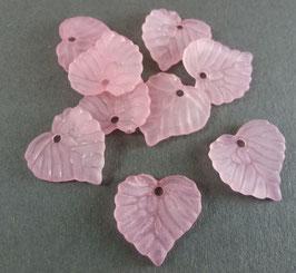 16 Acrylblatt Rosa matt