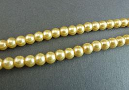 K04 Wachsperle Goldgelb 6mm