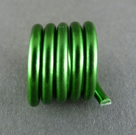 Alu 2mm (10) Dunkelgrün