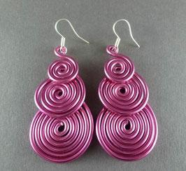 01 Alu-Ohrringe Pink