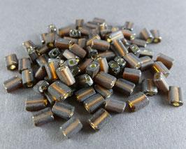 Br05 Dunkelbraun matt, Silbereinz.; 4mm