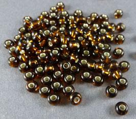 Br08 Dunkelbraun Silbereinzg.; 3,5mm