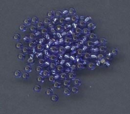 B35 Mittelblau Silbereinzug; 2mm