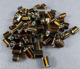 Br04 Dunkelbraun Silbereinz.; 4mm
