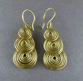 06 Alu-Ohrringe Gold