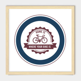 Home is where your bike is - screen print - storm