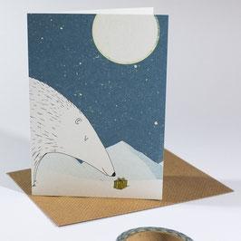 Polar winter - eco postcard / salute card
