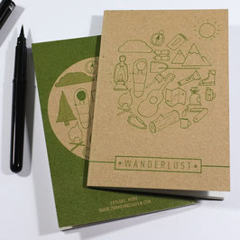 Wanderlust Brown Notebook - Hiking