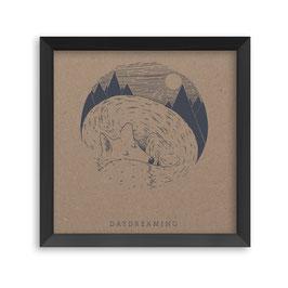 Daydreaming fox - screen print