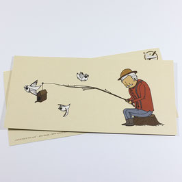 Catch me if you can - eco postcard / salute card