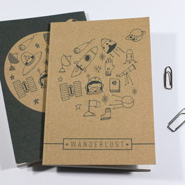 Wanderlust Brown Notebook - Cosmonaut