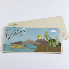 Greetings - eco postcard / salute card