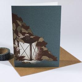 Autumn Light - eco greeting card / salute card