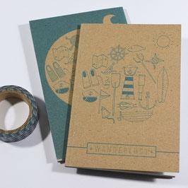 Wanderlust Brown Notebook - Sailing