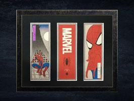『スパイダーマン浮世絵札3点額入り』