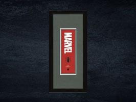 スパイダーマン浮世絵札「MARVELロゴ」額入