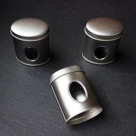 Gewürzdose oval mit Streu-Einsatz