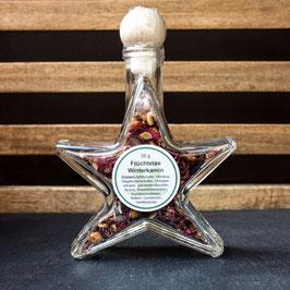 Stern groß gefüllt mit Früchtetee Winterkamin (35 g)