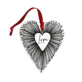 12-6-22-D LOVE Decorazione Cuore - Heart Shaped Decoration