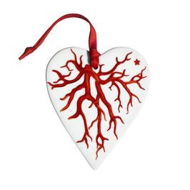 12-6-22-E GOOD LUCK Decorazione Cuore - Heart Shaped Decoration