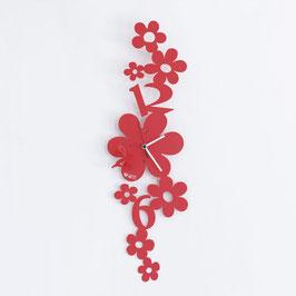 """Orologio """"Ape sul Fiore"""" rosso"""