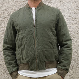 TELLASON BOMBER QUILTED SATEEN OLIVE