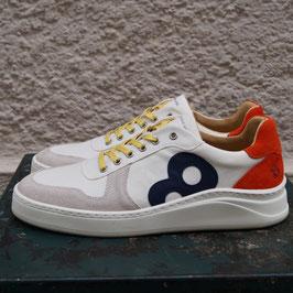 8bft GALAPAGOS ISLAND Herren Sneaker – weiß/signal