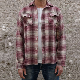 3SIXTEEN BRUSHED CROSSCUT FLANNEL RED/CREAM