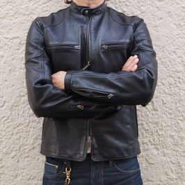 THEDI LEATHERS CAFE RACER BLACK WASHED