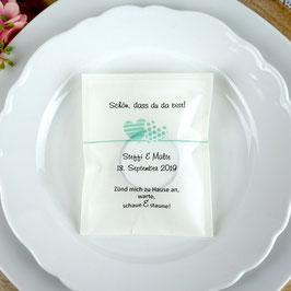 Licht-Botschaft zur Hochzeit, Design zwei Herzen