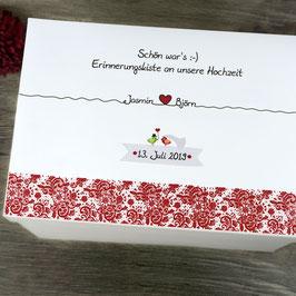 Hochzeitskiste - Design Spitzenband