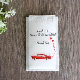 """Freudentränen Taschentücher aus Pergamentpapier, Design """"Rockabilly"""""""