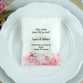 Licht-Botschaft zur Hochzeit, Design Blütentraum