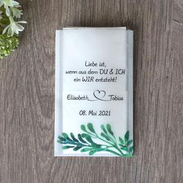 """Freudentränen Taschentücher aus Pergamentpapier, Design """"Greenery"""""""