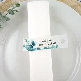 Serviettenring zum Geburtstag, Design Eukalyptus - 1 Stück