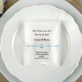 Licht-Botschaft zur Hochzeit, Design Anker klein