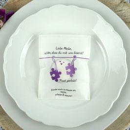Licht-Botschaft zur Hochzeit, Design Puzzle
