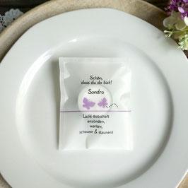 Licht-Botschaft zur Hochzeit, Design Schmetterlinge